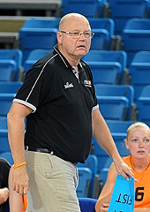 Netherlands head coach Rene Spandauw
